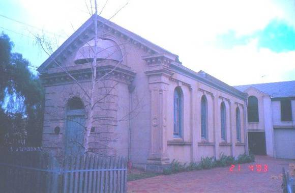 Former Synagogue McKillip St Geelong Exterior View West SHE Project 2003