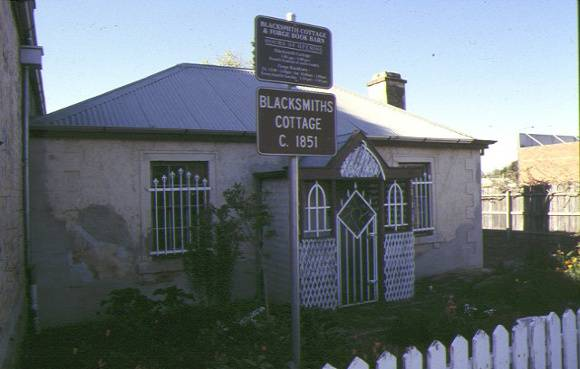 1 former blacksmiths cottage & shop main street bacchus marsh front view of cottage 1997