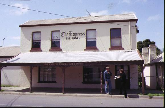 1 bacchus marsh express office & printing works front view