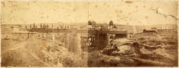 Shelford Bridge under construction, c.1874.  Source: Dianne Hughes