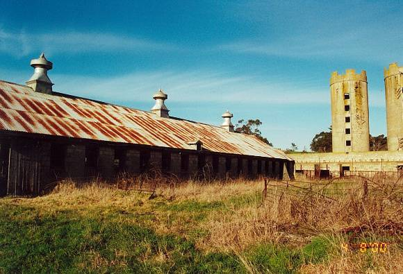 View of south shed and silos
