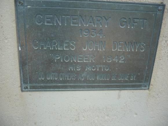Johnstone Park   Seat Centenary Gift 1934   - Plaque