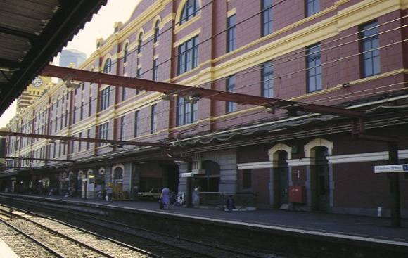 flinders street railway station complex flinders street melbourne side view