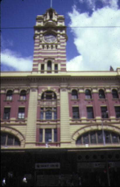 flinders street railway station complex flinders street melbourne tower view