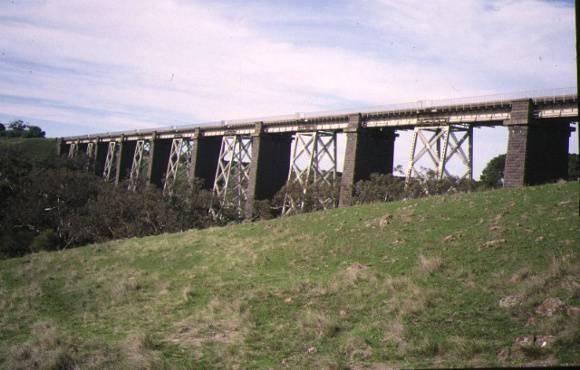 1 railway viaduct over moorabool river side elevation may1995