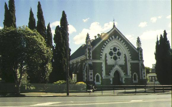 1 former newtown methodist church pakington street geelong front view aug1995