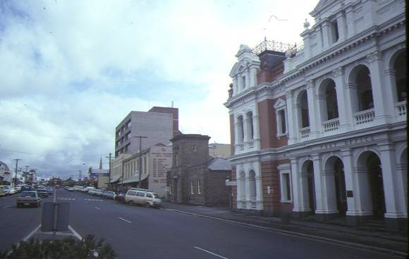 former telegraph station ryrie street geelong streetscape aug1984