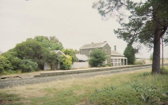 former moorabool railway station streetscape dec1998
