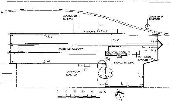 terang railway station plan