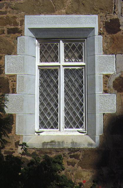 coriyule homestead mcdermott road drysdale detail of stone framed window