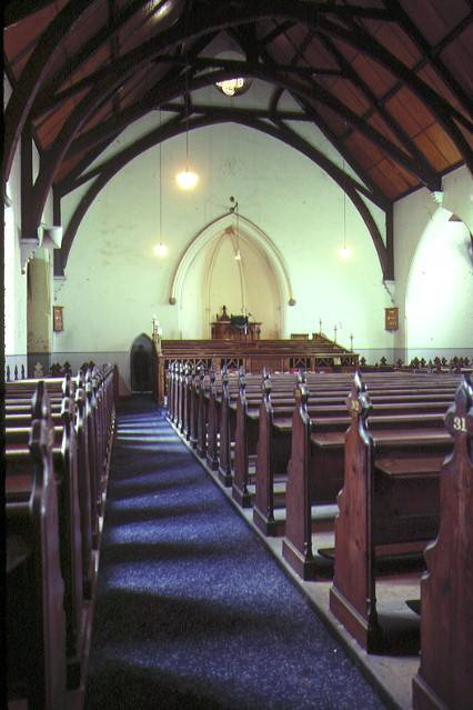 H00633 st giles church gheringhap street geelong interior view of church