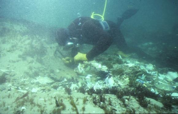 S620_SierraNevada_PortPhillipHeadsPointNepean_DiverOnWreck_Feb1985